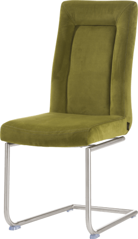 chaise - pied traineau inox rond