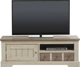 meuble tv 140 cm - 1-porte + 1-tiroir + 1-niche