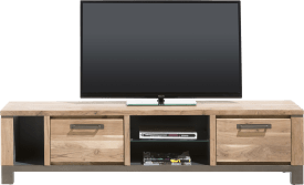 meuble tv 190 cm - 1-tiroir + 1-porte rabattante + 3-niches