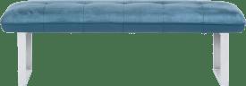 bank zonder rug + pocketvering - 155 cm