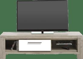 meuble tv 150 cm - 1-porte rabattante + 3-niches
