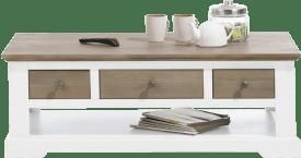 salontafel 120 x 60 cm + 3-laden t&t + 1-niche