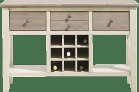wandtafel 120 x 40 cm + 4-laden + 9-wijnvakken + 2-niches