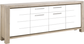 dressoir 240 cm - 4-deuren + 1-lade