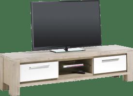 meuble tv 1-tiroir + 1-porte rabattante + 2-niches