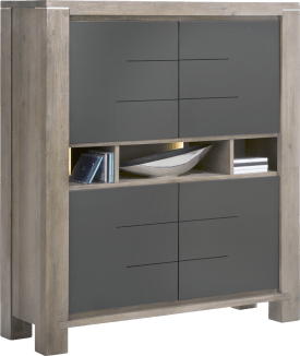 highboard 4-portes + 3-niches (+ led)