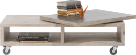 table basse 120 x 60 cm + plateau pivotant