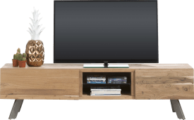meuble tv 190 cm - 1-tiroir + 1-porte rabattante + 2-niches