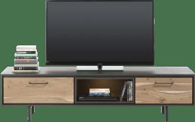 tv-sideboard 180 cm - 1-lade + 1-klappe + 1-nische (+ led)