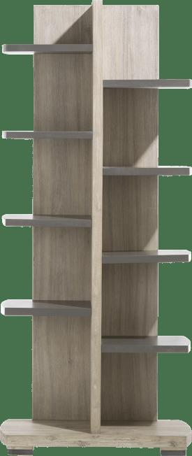 boekenkast 75 cm - 10-niches knock-down