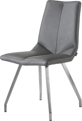 chaise 4 pieds inox - tatra anthracite