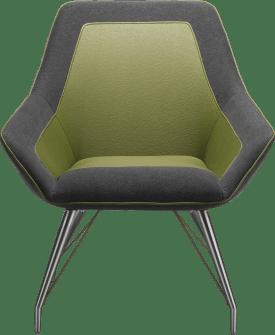 fauteuil inox - combi tatra/blues