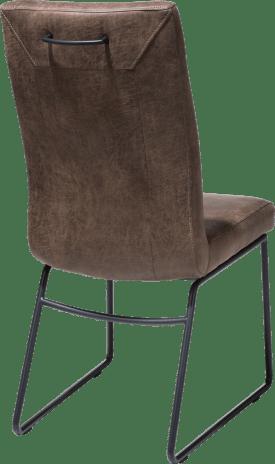 chaise - cadre tube noir - poignee rond