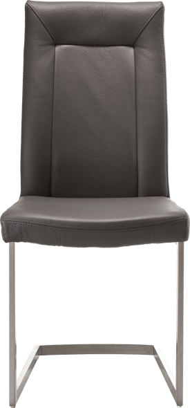 chaise - inox pied traineau carre