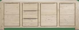 dressoir 250 cm - 3-deuren + 3-laden