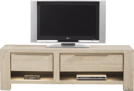 tv-dressoir 150 cm - 1-lade + 2 niches + 1-klep (+ led)