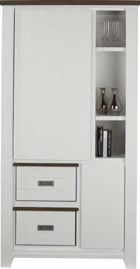 armoire 2-portes + 3-niches + 2-boxen