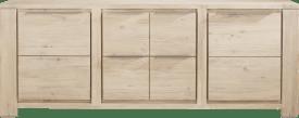 dressoir 220 cm - 2-deuren + 2-laden