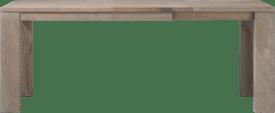 uitschuiftafel 140 (+60) x 90 cm - hout 12x12/10x14