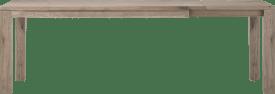 uitschuiftafel 180 (+ 60) x 90 cm - hout 9x9