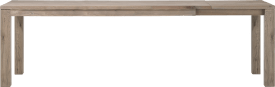 uitschuiftafel 200 (+ 60) x 100 cm - hout 9x9