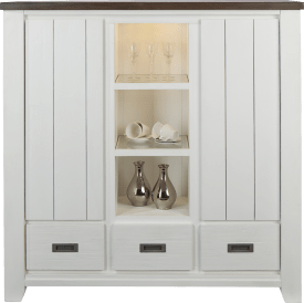 highboard 2-portes + 3-tiroirs + 3-niches