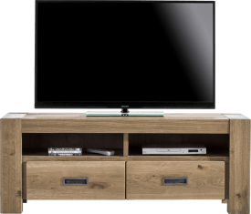 meuble tv 140 cm - 2-tiroirs + 2-niches