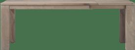 uitschuiftafel 160 (+ 60) x 90 - hout 12x12/10x14
