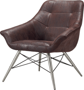 fauteuil inox + tissu leopard