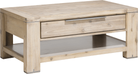 table basse 110 x 60 cm + 1-tiroir t&t + 1-niche