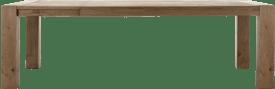 uitschuiftafel 190 (+ 60) x 100 cm