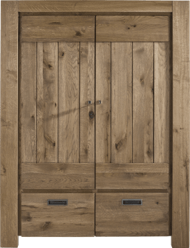 armoire 2-portes + 2-tiroirs