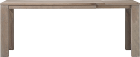table bar a rallonge 180 (+ 60) x 90 cm - bois 12x12/10x14