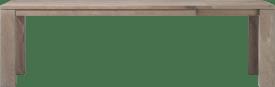 uitschuiftafel 200 (+60) x 100 cm - hout 12x12/10x14