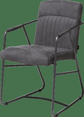 armstoel - metalen frame antraciet - kibo stof