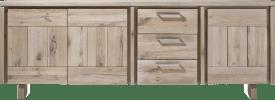 buffet 240 cm - 3-portes + 3-tiroirs - bois