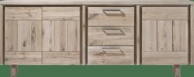 buffet 220 cm - 3-portes + 3-tiroirs - bois