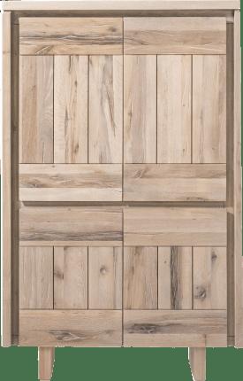 bergkast 99 cm - 4-deuren - hout
