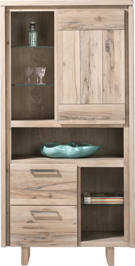 armoire 1-porte + 2-tiroirs + 6-niches - bois
