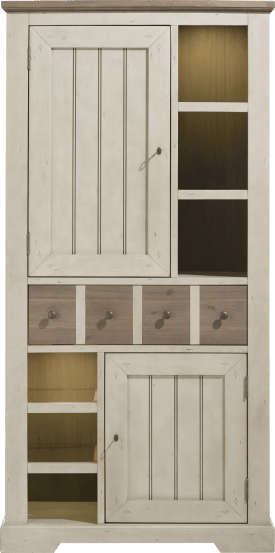 armoire 100 cm - 2-portes + 1-tiroir + 6-niches (+ led)