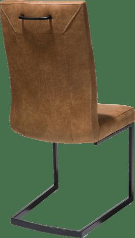 chaise - metal noir - pieds traineau rectangle - poignee rectangle