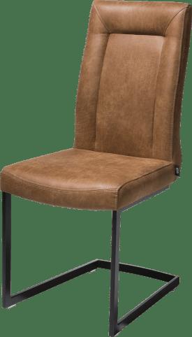 chaise - metal noir - pieds traineau rectangle