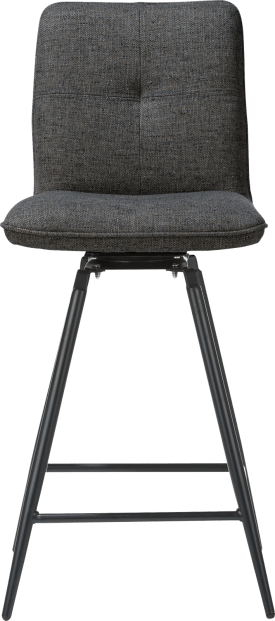 chaise de bar pivotante - pieds noir - orlando anthracite ou mint