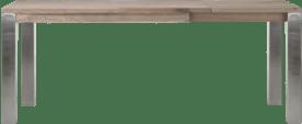 ausziehtisch 140 (+60) x 90 cm - edelstahl 9x9