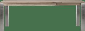 ausziehtisch 160 (+ 60) x 90 cm - edelstahl 9x9