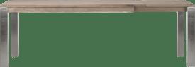 ausziehtisch 180 (+ 60) x 90 cm - edelstahl 9x9