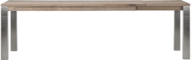 ausziehtisch 100 (+ 60) x 200 cm - edelstahl 9x9