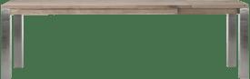 uitschuiftafel 100 (+ 60) x 200 cm - rvs 9x9