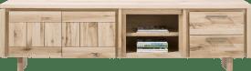 lowboard 240 cm - 2-portes + 2-tiroirs + 2-niche - bois