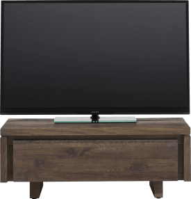 meuble tv 100 cm - 1-porte rabatante - bois